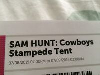 Sam Hunt tickets for sale