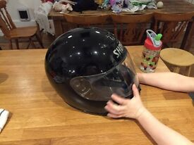 Black shoei helmet