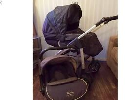 Silver cross freeway linear pram, 3 in 1 travel system charcoal grey