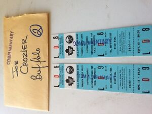 Unused 1995 Leafs/Sabres prospect game tickets (2)