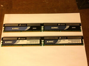 Corsair XMS2 — 8GB DDR2 Memory (4 modules of 2 GB)