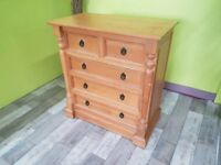 20% OFF SELECTED ITEMS!! Solid Pine Chest Of Drawers - Can Deliver For £19