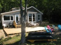 Lakefront cottage for rent WITH A SANDY BEACH