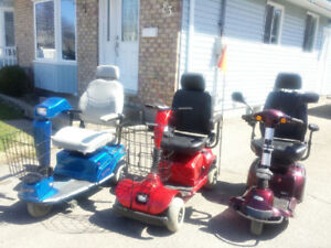 3 MOBILITY SCOOTERS IN EXCELENT CONDITION