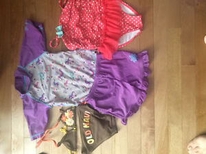 Girls size 3 swim suits set of 3