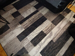 8 X 10 Chocolate style modern style carpet rug NEED GONE NOW