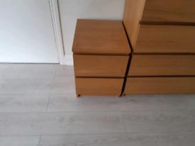 Ikea Brown Bedside Table