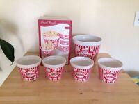 Family popcorn bowls