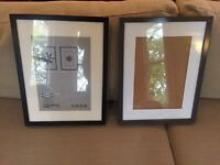 2 IKEA Ribba picture photo frames, one black, one grey. 30x40cm