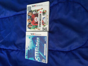 2 Nintendo 3DS games in good condition for sale!