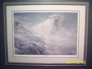 "Framed Art – ""Winter Whiteout"" by Ron Decker (Artist's Proof)"