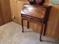 Elegant Queen Anne Style Secretary Desk