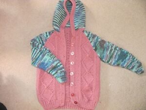 Girls hand-made sweater like new!! size 5 Kitchener / Waterloo Kitchener Area image 1