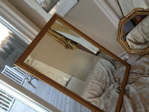 Heavy Bevelled Gold Framed Mirror 52 x 33 inches