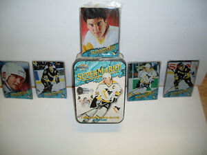 Mario Lemieux All Metal Cards & Collector Tin *NEW*