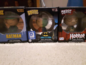 Multiple Dorbz figures and bobble heads for sale