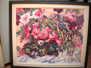 LARGE PAINTING BY LISTED CANADIAN ARTIST WANDA MARTIN HICKS