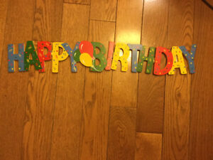 """HAPPY BIRTHDAY"" SIGN FOLDS AWAY"