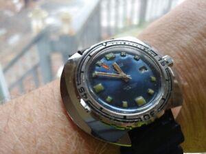 Vintage NOS 1970's Cernos French Divers Watch Huge!