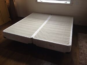 King size box spring two piece  and steel bed frame