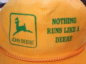 VINTAGE JOHN DEERE NOTHING RUNS LIKE A DEERE TRUCKER HAT Kingston Kingston Area image 2
