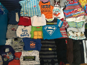 Baby boy clothes mostly sizes 9-12 months a couple 6 months