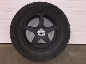 Winter Tires and Rims P255/65R17 for Sale; (245/60R18 Alternate)