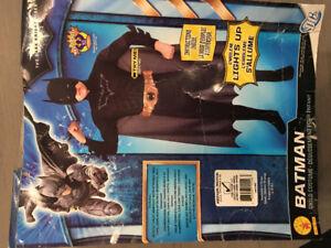 Bat Man Halloween Costume - muscles, boot tops, mask, belt, cape