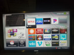 55 inches Samsung smart TV.
