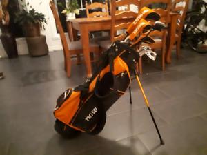 set de de clubs de golf gaucher pour ado