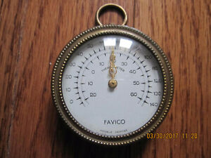 Very Nice 1940s /50s Favico Pocket Thermometer (Made in France) Sarnia Sarnia Area image 1