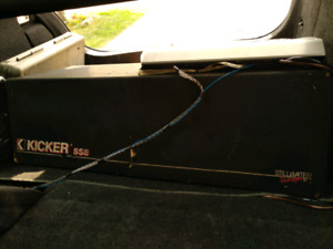 Kicker SS-8 Speaker Box with Sony XM-2002 GTR Amplifier
