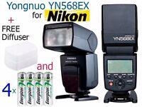 Yongnuo YN-568EX TTL Flash Speedlite for Nikon - Wireless Flash, High Speed Sync + FREE BONUS EXTRAS