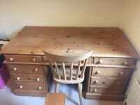 Beautiful Solid Pine Desk and Chair set!