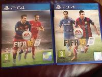 PS4 fifa 15 &16