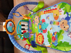 Blue Safari Baby Playmat with Piano