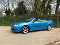 2006 06 SAAB 9-3 1.9 TID VECTOR CERULEAN CONVERTIBLE ONLY 72000 MILES