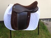 "17.5"" heritage English leather show/working hunter saddle Brown Wide/xwide"