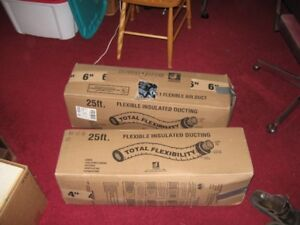 2 partial boxes of flexible insulation ducting