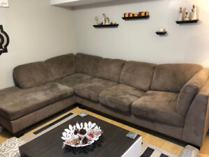 Brown 10ft X 7ft  Sectional