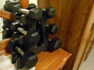 DUMBELL SET WITH RACK .