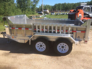 New Aluminum Dump Trailers, More payload, less rust than steel!