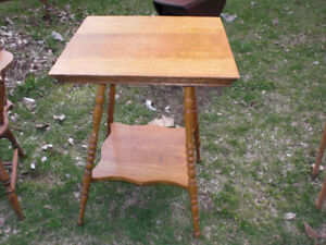 2 OCCASIONAL OAK TABLES Ca. 1920/free delivery