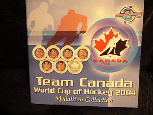 TEAM CANADA WORLD CUP OF HOCKEY 2004 MEDALLION COLLECTION