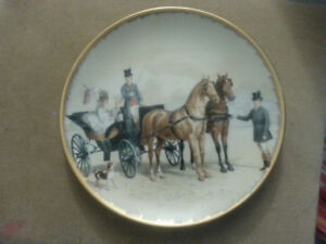 "Limogues France Collector Plate ""Chevaux Anglais (Coupe)"""