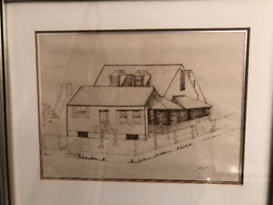 Original Drawing Listed Artist Mary Titus + Painting Collection
