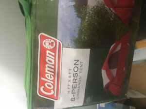 8 Person Coleman Tent, NEW never opened