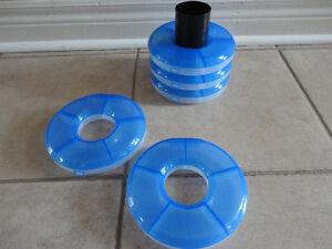 Set of 5 stackable storage containers