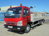 2008 MITSUBISHI CANTER FUSO PLANT TRUCK 20FT BODY 7500KG GROSS RECOVERY WINCH