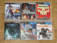 Playstation 3 games for sale or trade